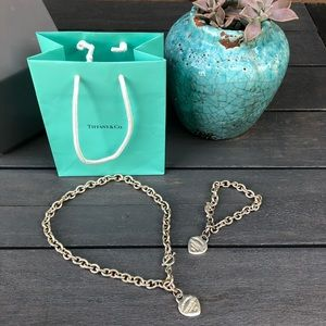 Tiffany & Co. heart necklace & bracelet set